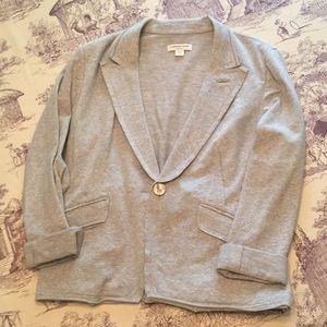 Cold water Creek gray knit blazer, adorable detail